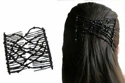 Stretchable Hair Double Combs Clip Pair For Hair Styling Hol