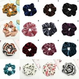Sweet Velvet Elastic Hair Rope Scrunchie Ponytail Holder Rub
