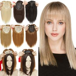 Synthetic Long Top Topper Clip In Hair Extension For Woman T