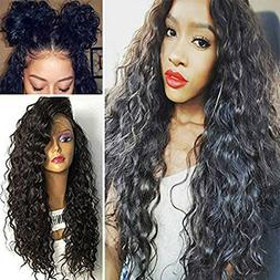 Synthetic Loose Curly Lace Front Wig High Density Fiber Synt