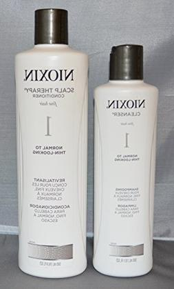 Nioxin System 1 Cleanser 10.1 oz and Scalp Therapy Condition