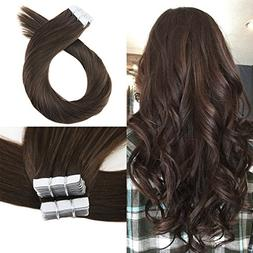 Moresoo 18 Inch Tape in Extensions Remy Hair Seamless Skin W