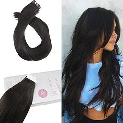 Moresoo 22 Inch Tape in Hair Extensions Remy Hair Seamless S