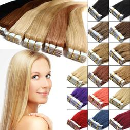 Tape in Grade 7A 100% Virgin Remy Human Hair Extensions 20/4
