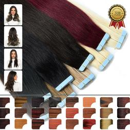 Tape In Hair Extensions Highlighted Real Human Hair Balayage