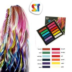 Temporary Hair Chalk-Washable Bright Hair Safe For Kids And
