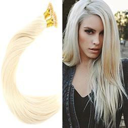 VeSunny 16inch I Tip Hair Extensions Human Hair Color #60 Pl