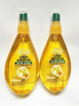 Garnier Triple Nutrition Miracle Dry Oil.  For Hair, Body &