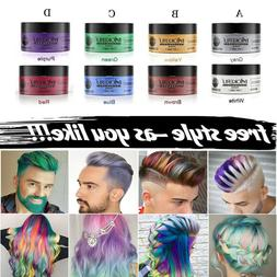 Unisex Hair Wax Washable Temporary Dye Styling Cream Mud For