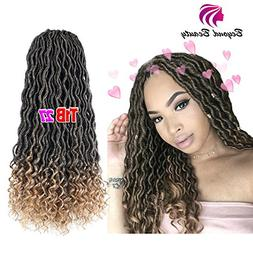 Wavy Faux Locs Crochet Hair Curly Ends Synthetic Braiding Go