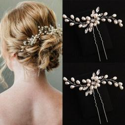 Wedding Hair Pin Decorative Hair Accessories for Bridal Crys