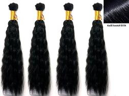 Hot selling Wet N Wavy Bulk hair, Top Quality Synthetic Fibe
