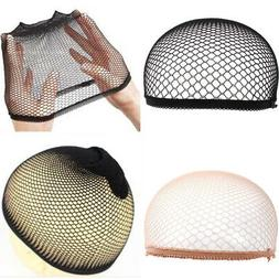 Women Men Soft Cloth Hair Net Crochet Hairnet Knit Hat Cap H