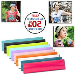Womens Mens Unisex Sport Sweat Sweatband Headband Yoga Gym H